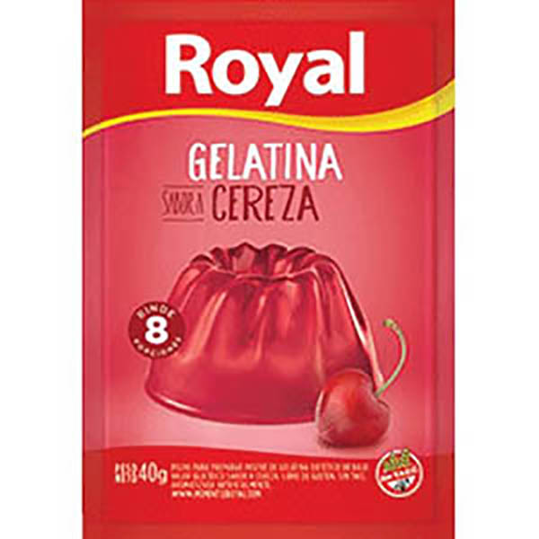 ROYAL GELATINA CEREZA X40G