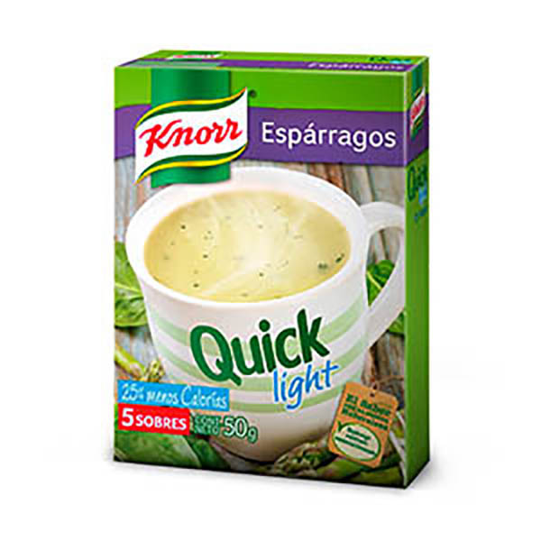 KNORR QUICK SOPA LIGHT ESPARR.X55G