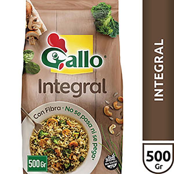 GALLO ARROZ INTEGRAL.BSAX500GR
