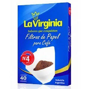 LA VIRGINIA FILTRO CAFE PAP.N4 X40U