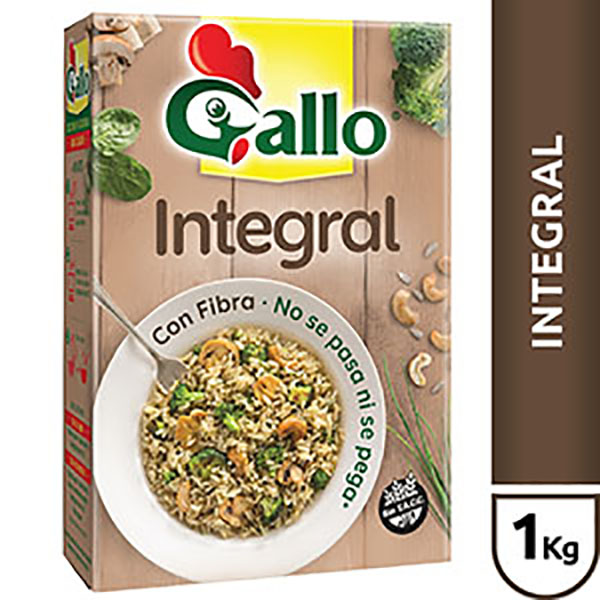 GALLO ARROZ INTEGRAL EST.X1KG