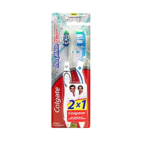 COLGATE CEPILLO DENTAL M/WHITE MED.2X1