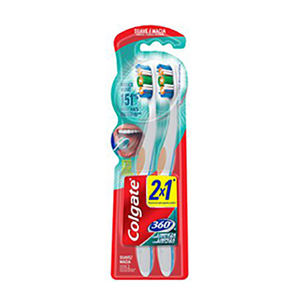 COLGATE CEPILLO DENTAL 2X1 360 SUAVE X 1