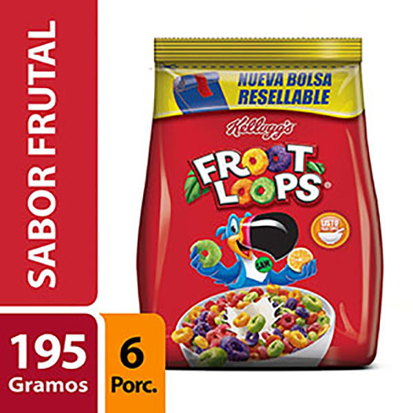 KELLOGGS CEREAL FROOT LOOPS X195G