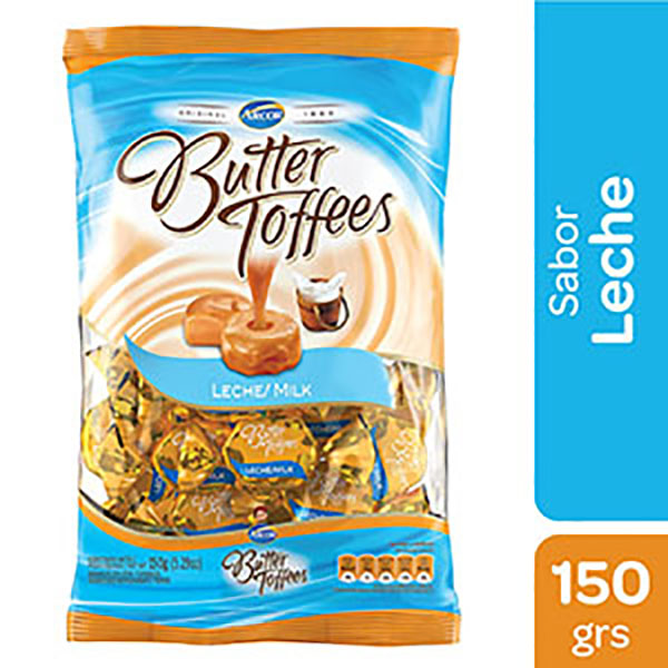 BUTTER TOFFEES CARAMELOS LECHE 150G
