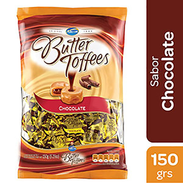 BUTTER TOFFEES CARAMELOS CHOC.150G