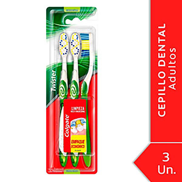 COLGATE CEPILLO DENTAL PACK X3 TWISTER