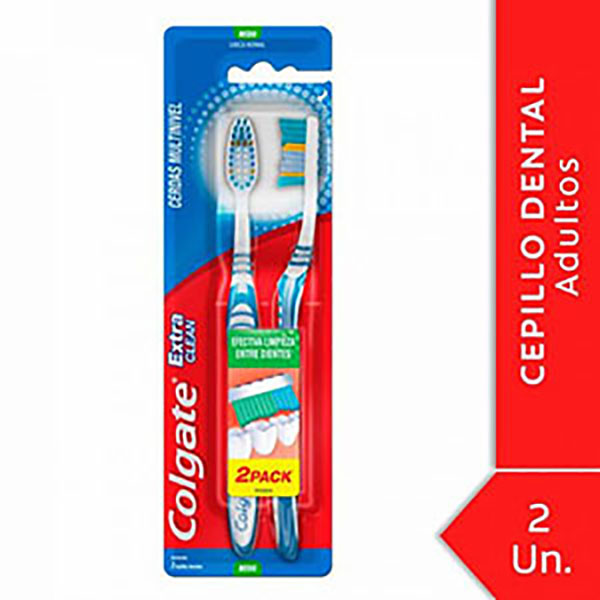 COLGATE CEPILLO DENTAL EX/CLEAN MED.X3U