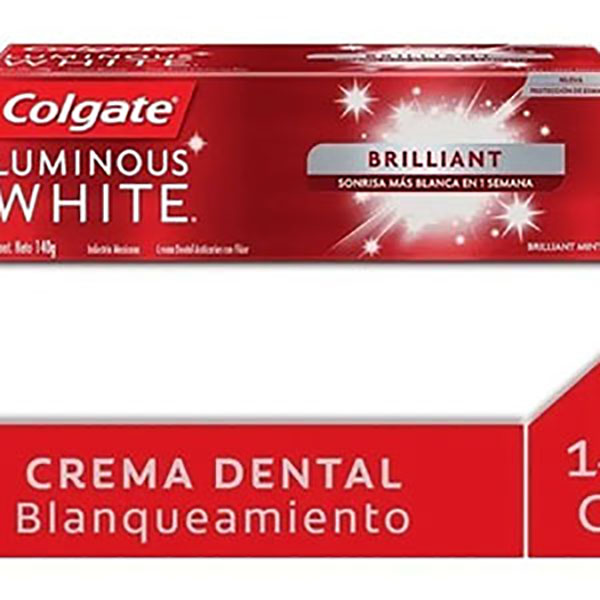 COLGATE CREMA DENTAL LUMINOUS  W 140G